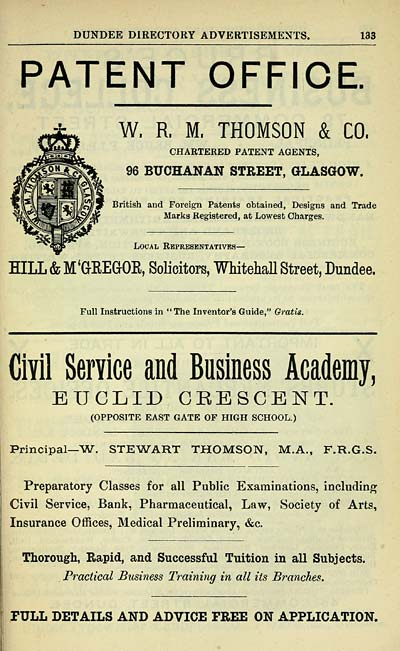 1003 Towns Dundee 1809 1912 Dundee Directory 1900 1901