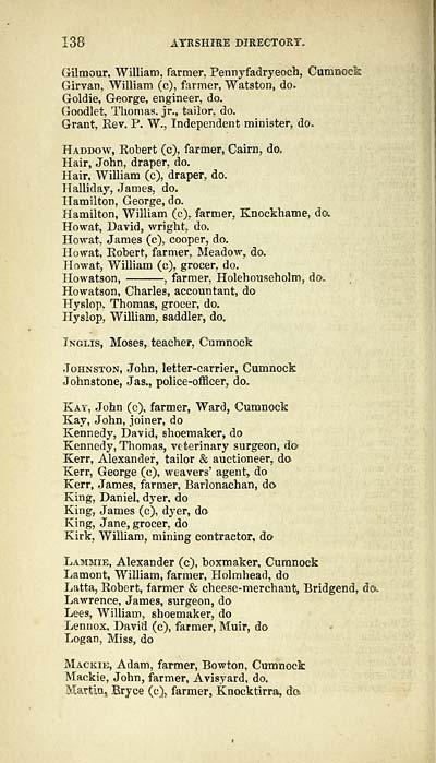 146  - Counties  U0026gt  Ayrshire  U0026gt  1851-1852