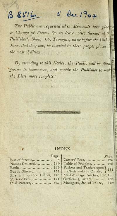 8) Index - Towns > Glasgow > 1799-1828 - Glasgow directory > 1816
