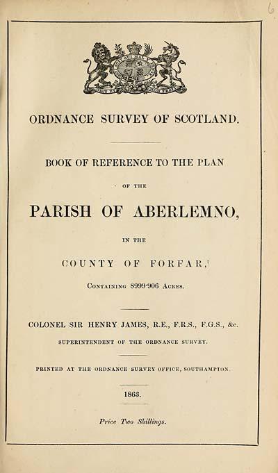 (187) 1863 - Aberlemno, County of Forfar