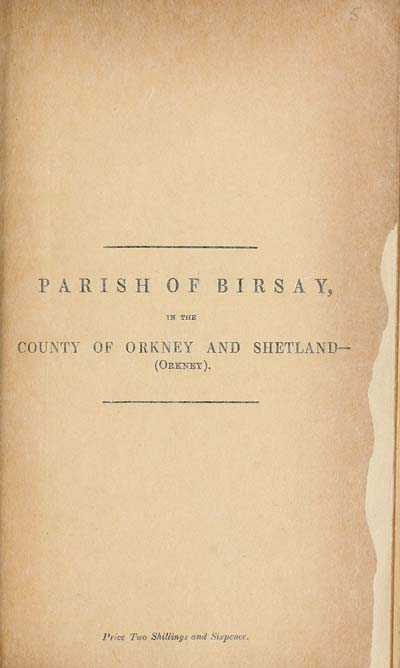(85) 1881 - Birsay, County of Orkney and Shetland (Orkney)
