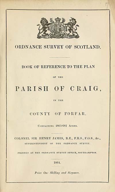 (375) 1864 - Craig, County of Forfar