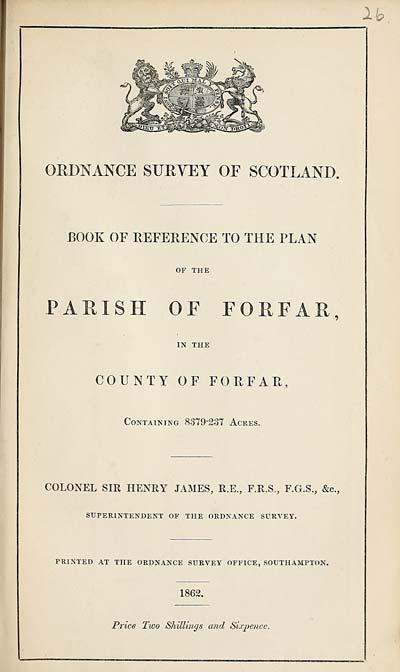(657) 1862 - Forfar, County of Forfar