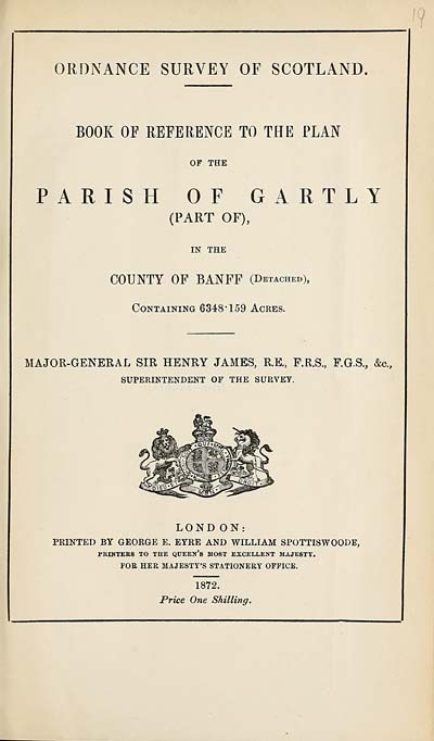 (517) 1872 - Gartly (part of), County of Banff (detached)