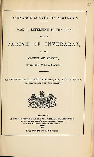 (483) 1872 - Inveraray, County of Argyll