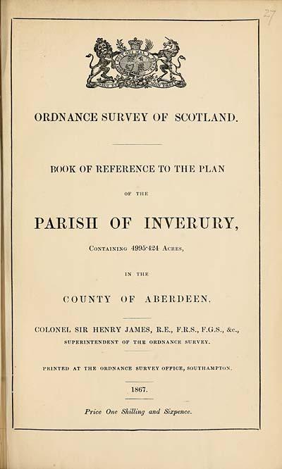 (623) 1867 - Inverury, County of Aberdeen