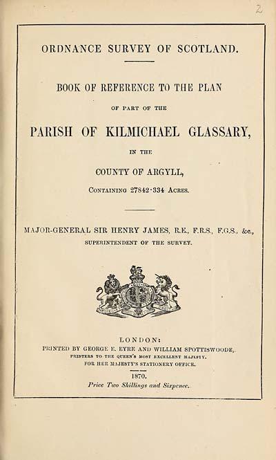(23) 1870 - Kilmichael Glassary, County of Argyll