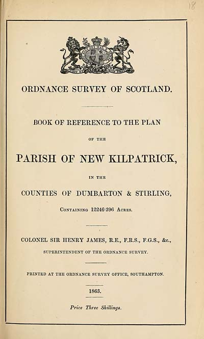 (367) 1863 - New Kilpatrick, Counties of Dumbarton and Stirling