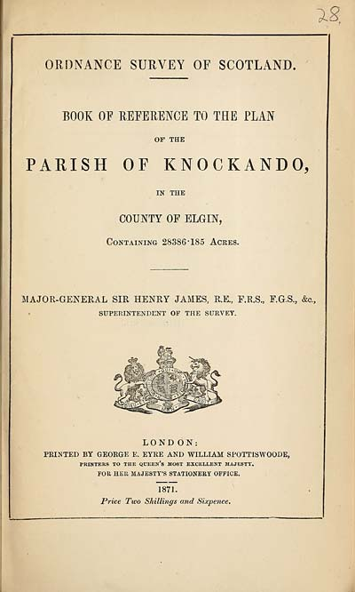 (635) 1871 - Knockando, County of Elgin