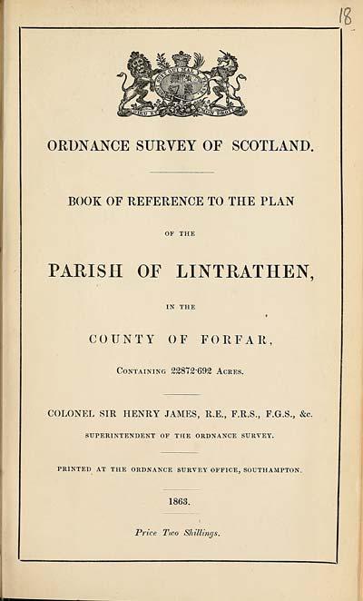 (501) 1863 - Lintrathen, County of Forfar