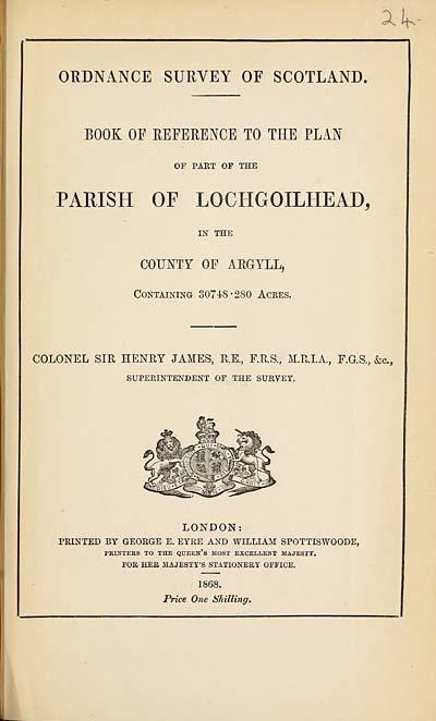 (659) 1868 - Lochgoilhead, County of Argyll