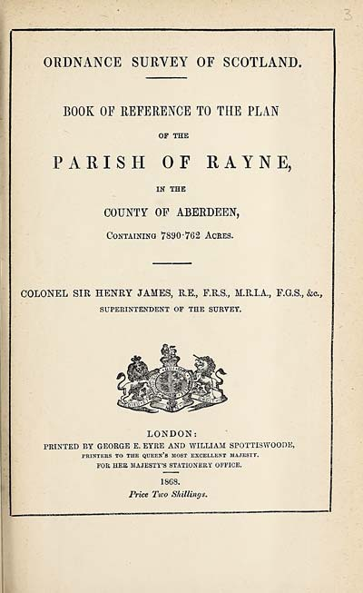 (67) 1868 - Rayne, County of Aberdeen