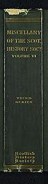 Thumbnail for 'Volume 33 - Miscellany of the Scottish History Society (Sixth volume)'