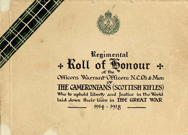 5) Title page - Organisations > Regimental roll of honour of the