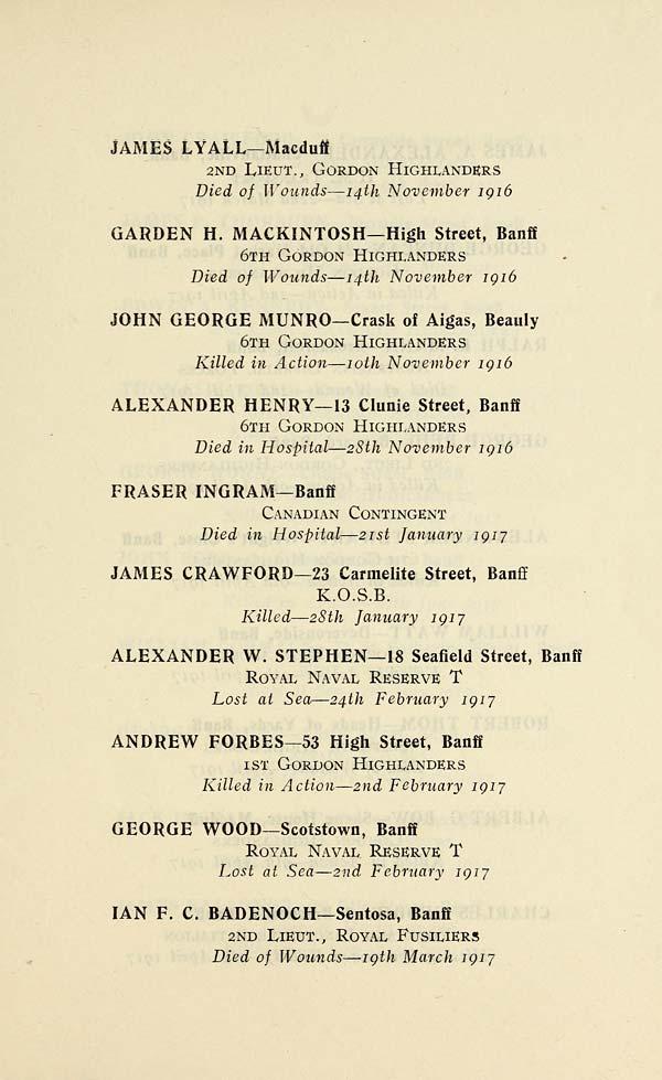 Norfolk roll of honour 1914