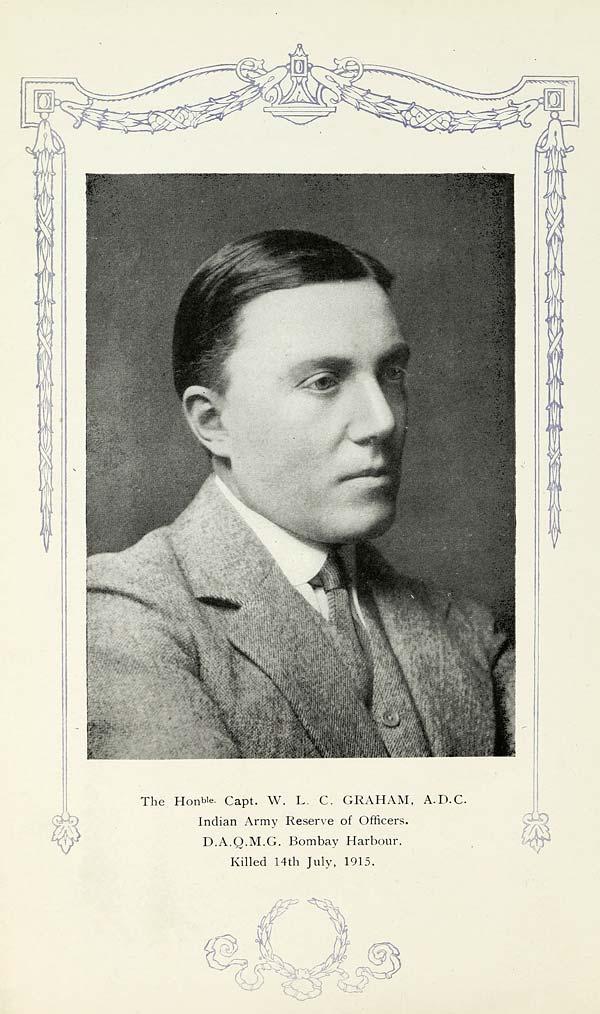 (22) Portrait - Captain W. L. C. Graham, A.D.C. (Aide-de-Campe)