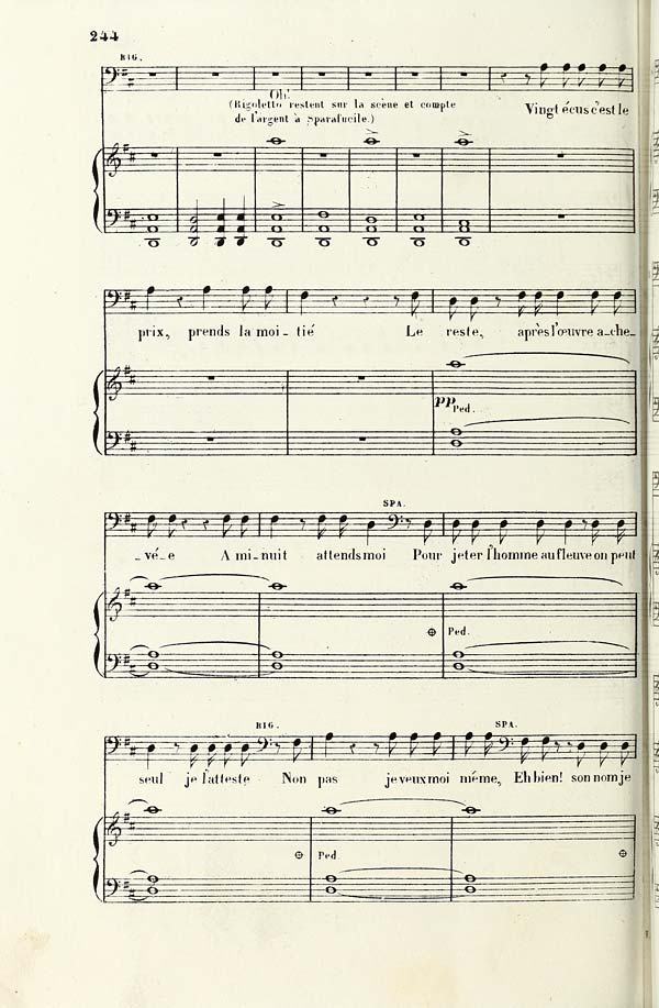 15ed3b9b1120 252) Page 244 - Hopkinson Verdi Collection   Rigoletto - Special ...