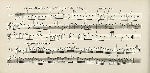 (86) Page 66 - Prince Charlies farewell to Isle of Skye -- Craigmillar castle