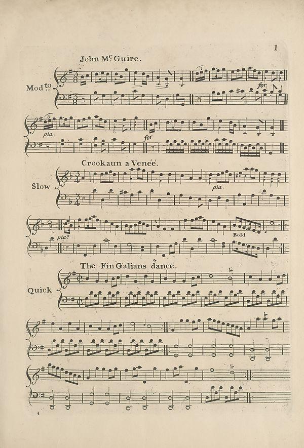 (11) Page 1 - John McGuire -- Crookaun a Venee -- FinGalians dance