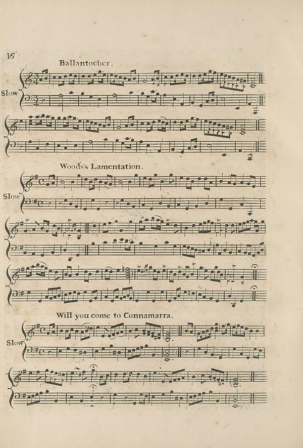 (26) Page 16 - Ballantocher -- Woods's Lamentation -- Will you come to Connamarra