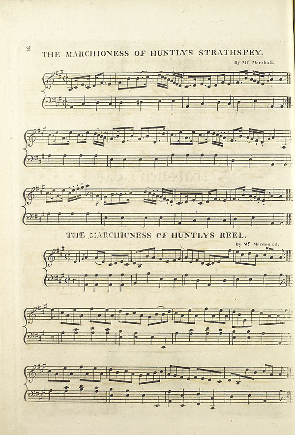 (12) Page 2 - Marchioness of Huntly's strathspey and reel