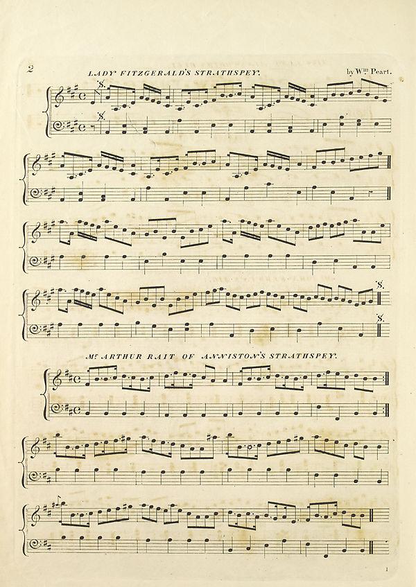 (12) Page 2 - Lady Fitzgerald's strathspey -- Mr. Arthur of Anniston's strathspety