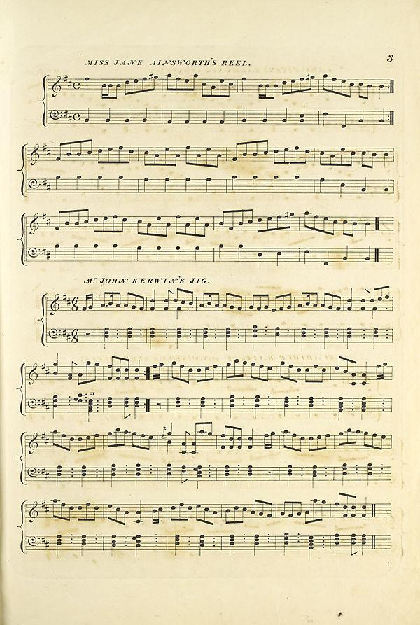 (13) Page 3 - Miss Jane Ainsworth's reel -- Mr. John Kerwin's jig