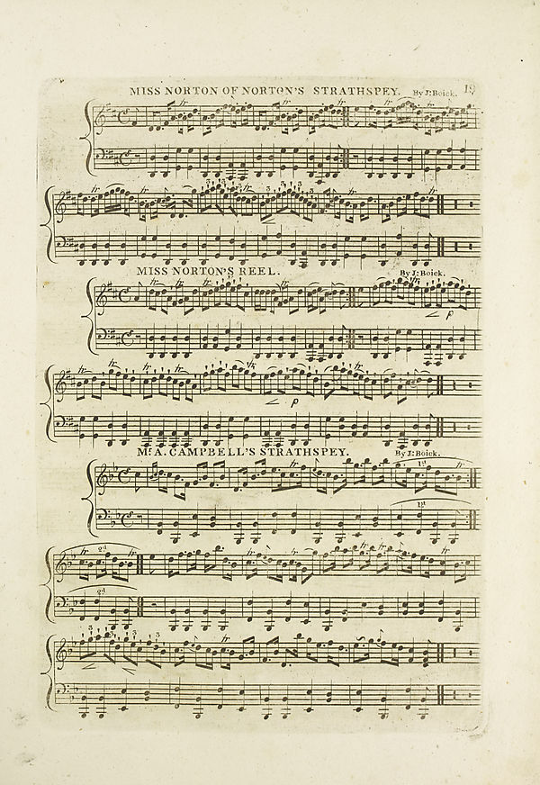 (25) Page 19 - Miss Norton of Norton's strathspey -- Mr A. Campbell's strathspey