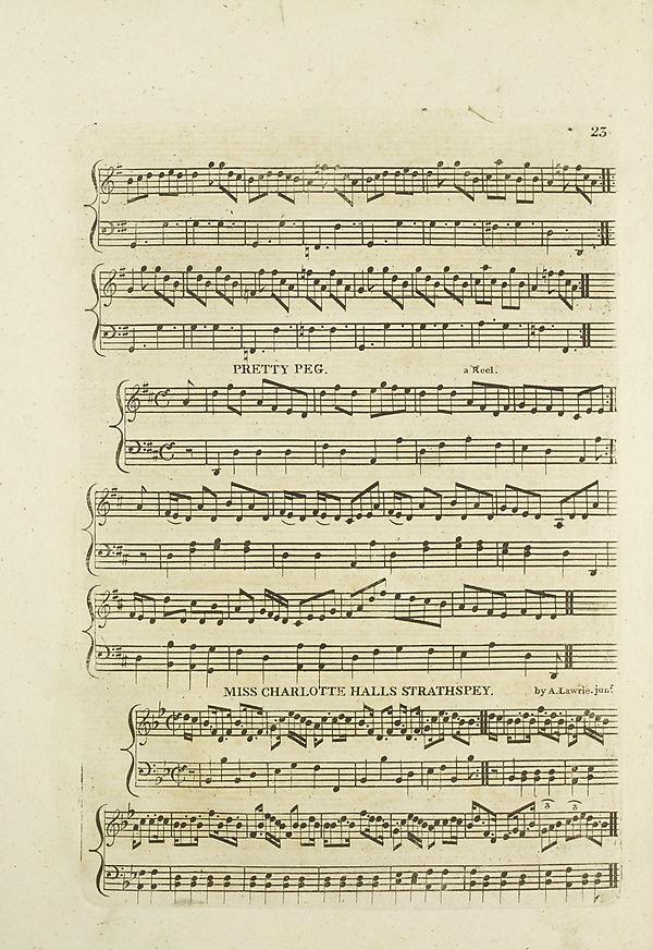 (29) Page 23 - Pretty Peg -- Miss Charlotte Hall's strathspey