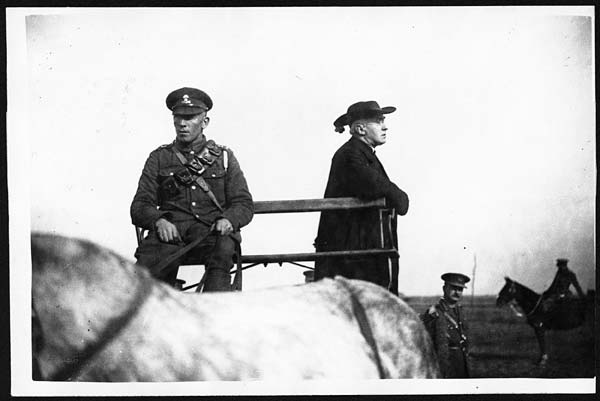 (2) D.2206 - His Eminence addressing the Dublin Fusiliers Brigade from a cart