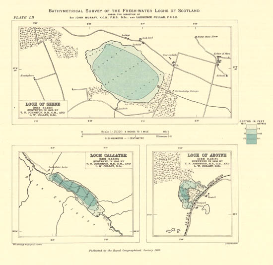 "See: <a href=""https://maps.nls.uk/bathymetric/"">Bathymetrical Survey of the Fresh-Water Lochs of Scotland, 1897-1909</a>"