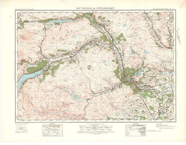 Pitlochry Scotland Map.56 Sheet 56 Dunkeld Pitlochry Scottish Directories National