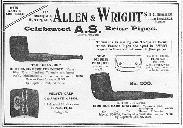 (17) Page 37 - Allen and Wright's celebrated A.S. briar pipes