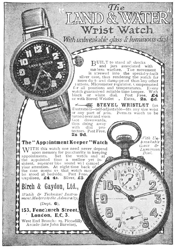 (2) Page v - Land & water wrist watch
