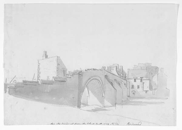 (1) 27a - Ayr old Bridge as from the Black Bull - 1789