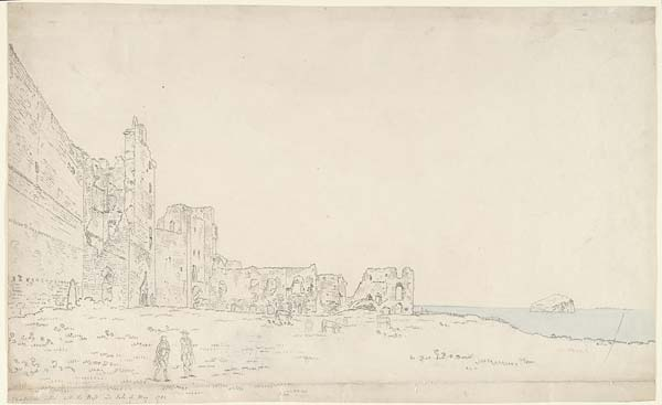 (1) 25 - Tantallon Castle, with the Bass and the Isle of May 1782