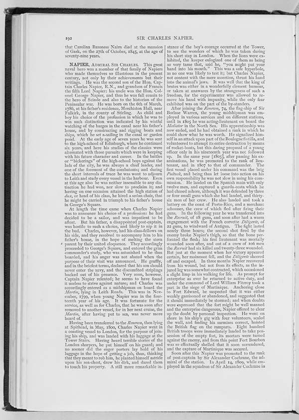 (205) Page 192 - Napier, Sir Charles