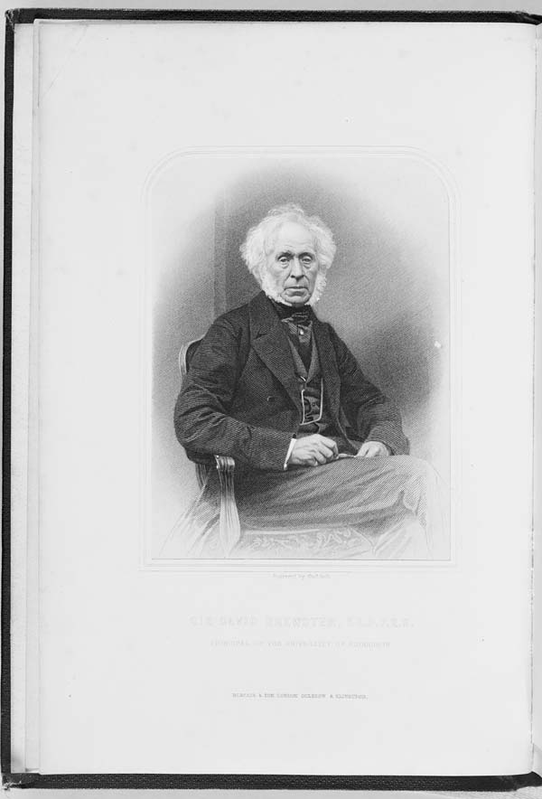 (1) Frontispiece - Sir David Brewster L.L.D., F.R.S