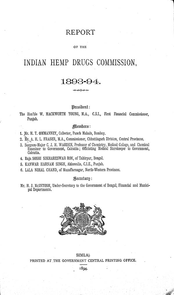 (1) Title page -