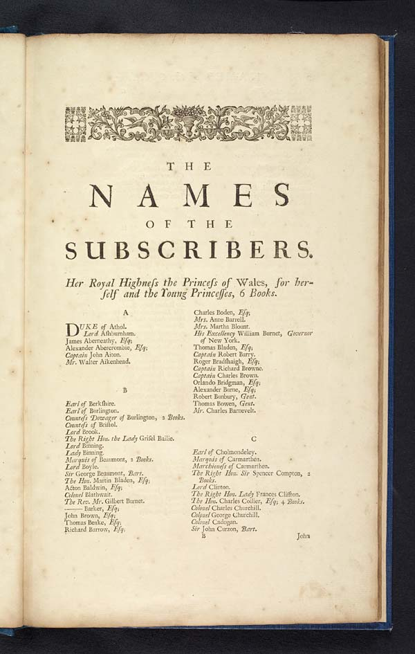 (3) Page  [1] - Names of the subscribers
