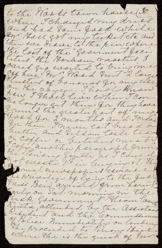 Letter of Isabella Bird Bishop to Henrietta Bird, 13 February 1879 - MS.42027