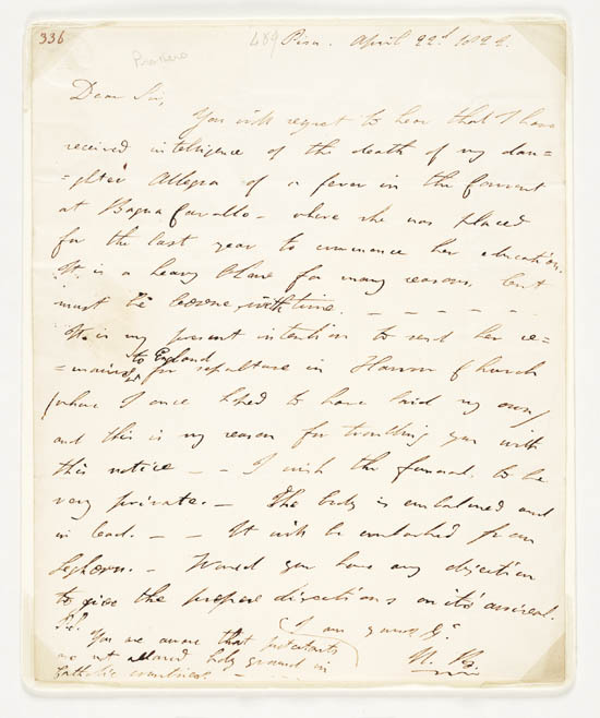 Letter of Lord Byron to John Murray, 22 April 1822 - Ms.43603