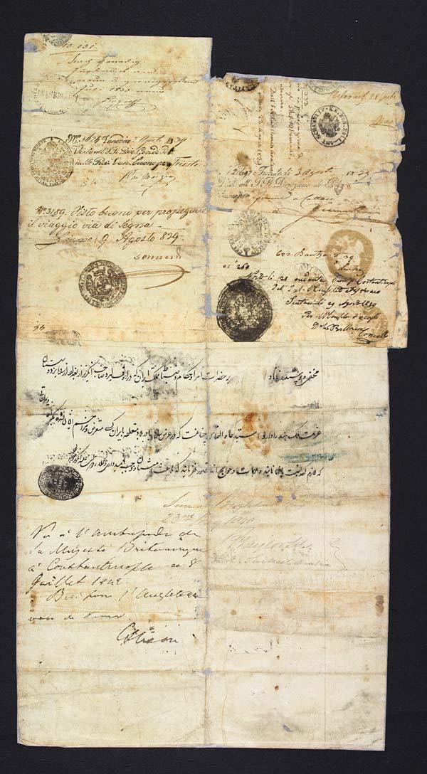 Passport of Sir Austen Henry Layard, 1839-1842 - MS.42345