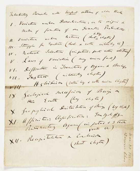 Letter of Charles Darwin to John Murray, 31March 1859 - MS.42153 ff.12-13