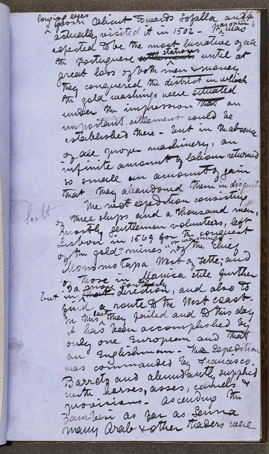 Manuscript of Dr. David Livingstone's 'Narrative of an Expedition to the Zambesi and its Tributaries', 1865 - MS.42436