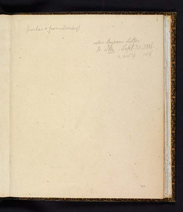 Lord Byron's manuscript of 'Childe Harold's Pilgrimage', Canto III, 1816 - Ms.43325