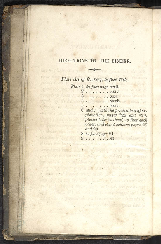 Selected pages and recipes from Maria Rundell's 'Domestic Cookery', 1806 - NF.1529.e1
