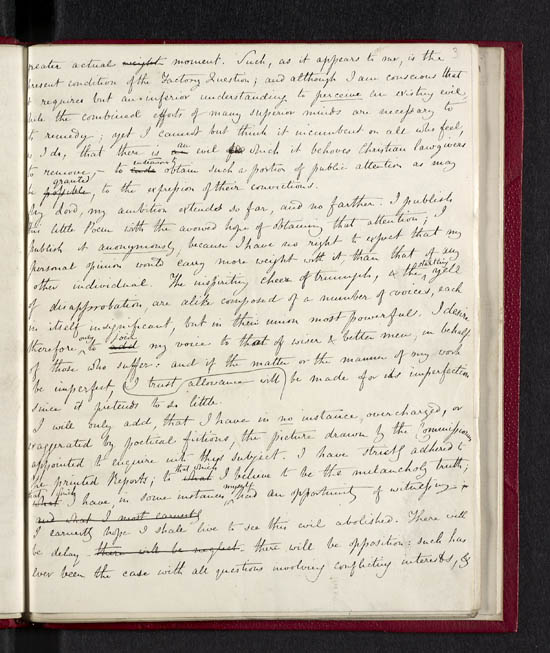 Manuscript, with marked proofs, of Caroline Norton's
