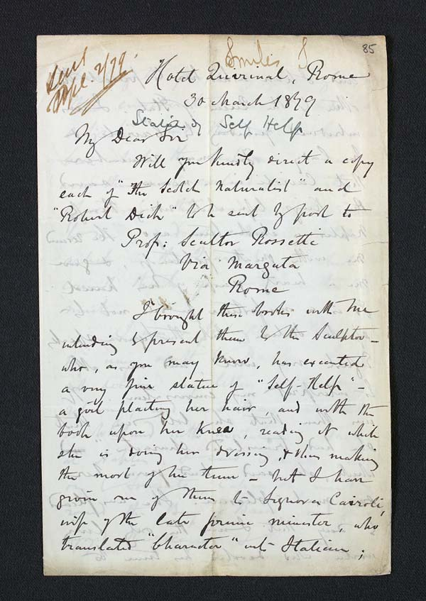 Letter of Samuel Smiles to John Murray, 30 March 1879 - Ms.41100 ff.85-86
