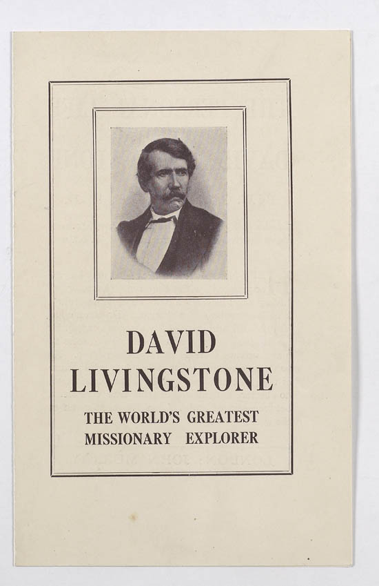 Promotional pamphlet for works about Dr. David Livingstone - MS.42442 ff.2-3